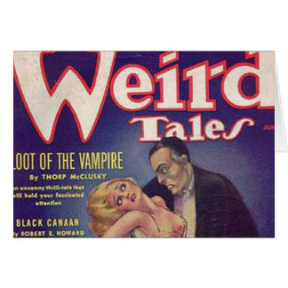Weird Tales Vampire Comic Book Cards
