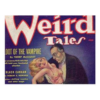 Weird Tales Vampire Comic Book Post Cards