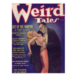 Weird Tales Vampire Comic Book Postcards
