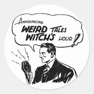 Weird Tales Witches Hour Round Sticker