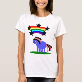 Weird Unicorn and Happy Hippy Rainbow T-Shirt