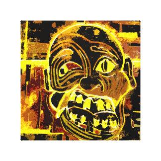 Weird & Wacky an Estranged Face Canvas Print