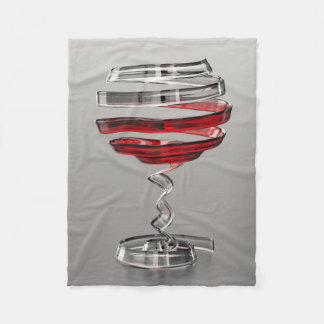 Weird Wine Glass Small Fleece Blanket