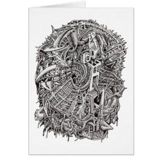 Weirdhead by Brian Benson Greeting Card