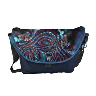 Weirdlight Abstract Blue Fractal - Medium Commuter Bag