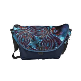 Weirdlight Abstract Blue Fractal - Small Commuter Bags