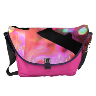 Weirdlight abstract funky Pink - Large Commuter Bag