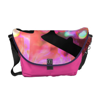 Weirdlight abstract funky Pink - Medium Courier Bag