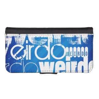 Weirdo; Royal Blue Stripes iPhone 5 Wallets