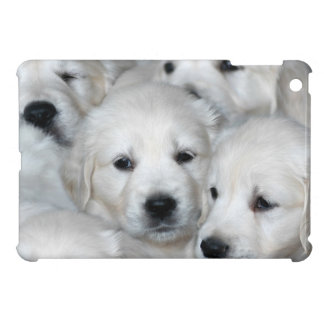 Weisse Golden Retriever Welpen iPad Mini Cover