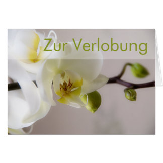 Weisse Orchidee • Glueckwunschkarte Verlobung Card