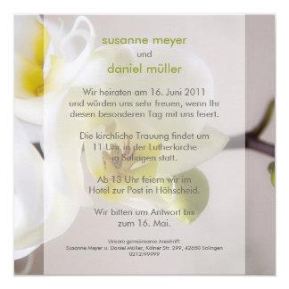 Weiße Orchidee • Hochzeitseinladung Custom Invites
