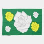 weiße Rosen Towels