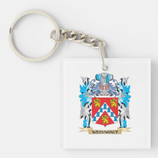 Weisshaut Coat of Arms - Family Crest Single-Sided Square Acrylic Keychain
