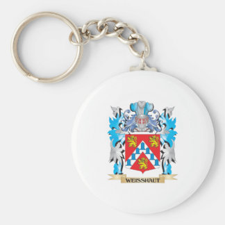 Weisshaut Coat of Arms - Family Crest Basic Round Button Keychain