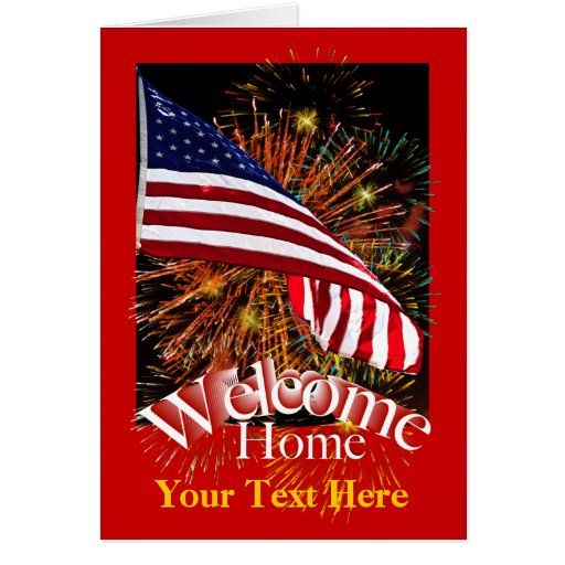 Welcom Home Troops Note Card