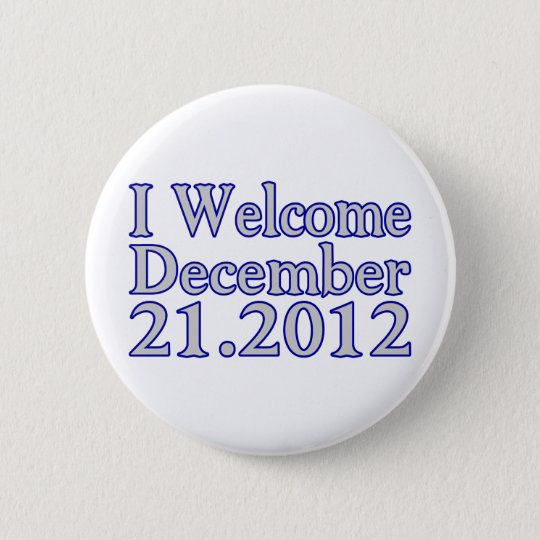 Welcome 2012 6 cm round badge
