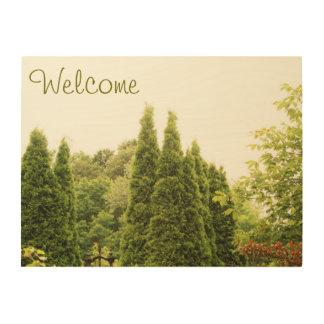 "Welcome 24""x18"" Wood Wall Art Wood Canvas"