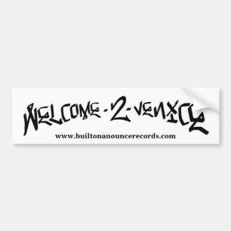 Welcome 2 Venice Bumper Sticker