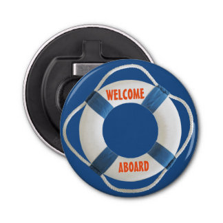 Welcome Aboard Life Ring Nautical Bottle Opener