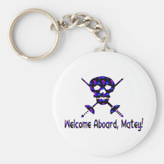 Welcome Aboard Matey Basic Round Button Key Ring