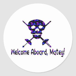 Welcome Aboard Matey Stickers