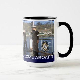 Welcome aboard mug