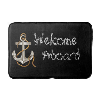 WELCOME ABOARD Nautical  Personalized Mat
