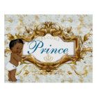 Welcome African Prince Royal Baby Shower Poster