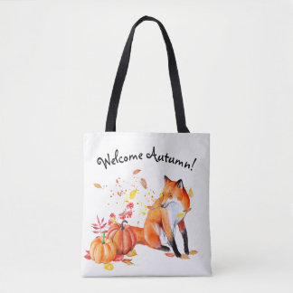 Welcome Autumn Fox Tote Bag