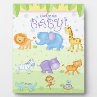 Welcome Baby Art Easel Plaque