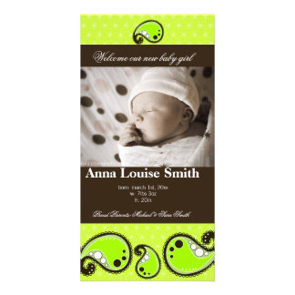 WELCOME BABY BIRTH ANNOUNCEMENT CUSTOMISED PHOTO CARD