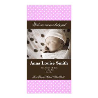 WELCOME BABY BIRTH ANNOUNCEMENT PHOTO CARD TEMPLATE