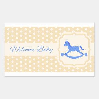 Welcome Baby Blue Boy Sticker