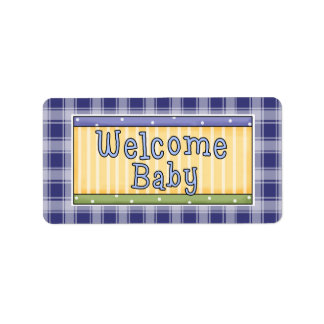 Welcome Baby Boy Blue Avery Labels