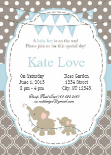 Welcome Baby Boy Shower Invitations