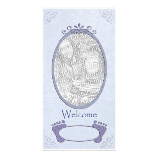 Welcome Baby Boy Photo Template Photo Cards