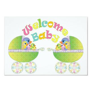 Welcome Baby Invite/Announcement 9 Cm X 13 Cm Invitation Card