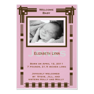 Welcome Baby Modern Baby Announcement