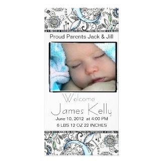 welcome baby photocard custom photo card
