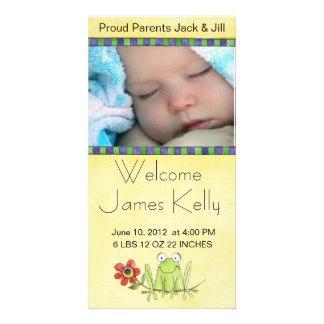welcome baby photocard personalised photo card