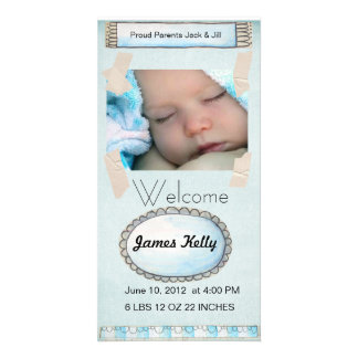 welcome baby photocard photo card