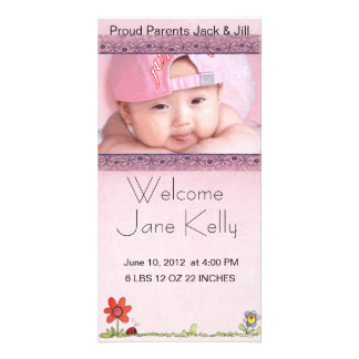 welcome baby photocard customized photo card