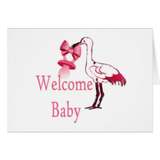 Welcome Baby Pink Card