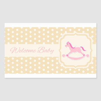Welcome Baby Pink Girl Sticker