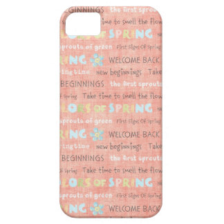 Welcome Back Colors of Spring New Beginings iPhone iPhone 5 Cover