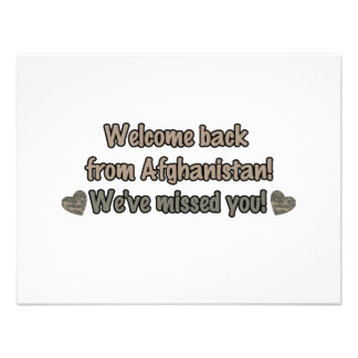 Welcome Back from Afghanistan Personalized Announcements