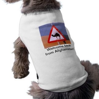 Welcome back from Afghanistan Sleeveless Dog Shirt