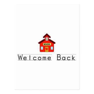 Welcome Back (Schoolhouse) Postcard