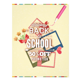 Welcome Back To School 50% Off Promotion 21.5 Cm X 28 Cm Flyer
